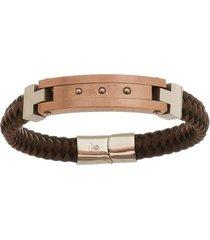bracelete de aço inox tudo joias rosê com 11mm de largura