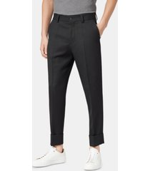boss men's perin relaxed-fit cropped wool trousers