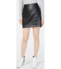 inc faux-leather wrap skirt, created for macy's
