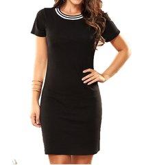 envío gratis vestido susan negro  para mujer croydon
