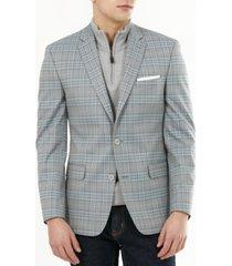 bar iii men's slim-fit plaid blazer, created for macy's