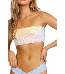 women's billabong tropic jungle sunny tube bikini top, size x-large - grey