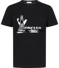 2 moncler 1952 split logo t-shirt