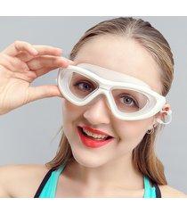 nuoto miope da uomo da donna occhiali tappi per le orecchie anti-nebbia impermeabili trasparenti nuoto occhiali