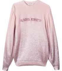alberta ferretti pink sweater