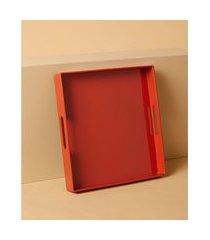 bandeja quadrada - bandeja aubonne cor: laranja - tamanho: único