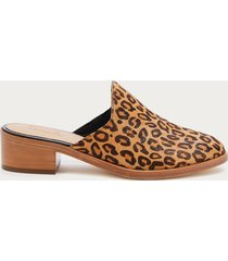 soludos women's venetian mules bootie leopard size 10 leather from sole society