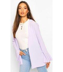flute sleeve kimono, lilac