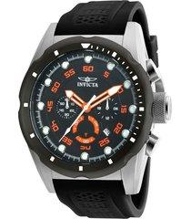 reloj invicta negro modelo 203ge para hombres, colección speedway