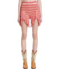 alanui shorts in multicolor cotton