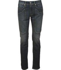 jeckerson patched detail fit-slim jeans