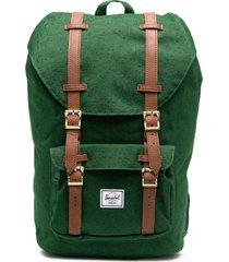 herschel supply co. satchel multi-pocket backpack - green