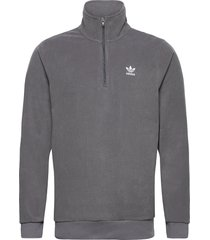 adicolor essentials polar fleece half-zip sweatshirt sweat-shirts & hoodies fleeces & midlayers grå adidas originals