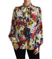 bloemen met lange mouwen blouse