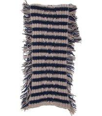 massimo alba bicolor striped scarf