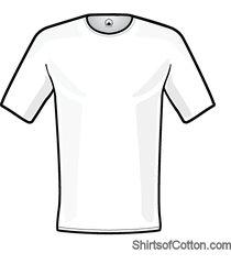 shirtsofcotton t-shirt wit basic round 2-pack