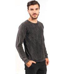 blusa algodão fino tricoport losango grafite