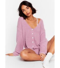 womens what a pearl wants knit shorts lounge set - lilac