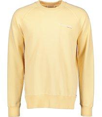 scotch & soda sweater - slim fit - geel