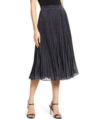 women's chelsea28 pleated midi skirt, size x-small - blue