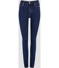 jane skinny jeans - mörkblå
