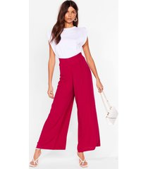 womens arms wide open high-waisted pants - raspberry