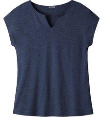 hennep-shirt met tuniekhals, marine 36/38