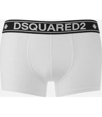 dsquared2 men's single trunk boxers - white - l