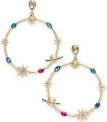 thalia sodi gold-tone celestial hoop drop earrings, created for macy's