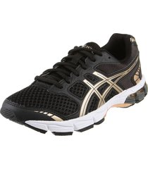 zapatilla  negra asics gel-connection