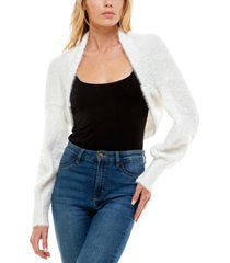 almost famous juniors' open-front cocoon shrug