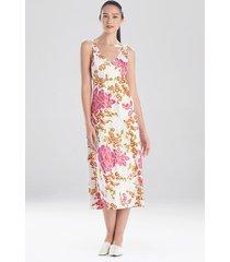 harumi satin gown pajamas / sleepwear / loungewear, women's, white, size l, n natori