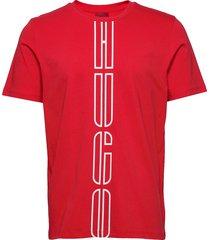 darlon203 t-shirts short-sleeved röd hugo