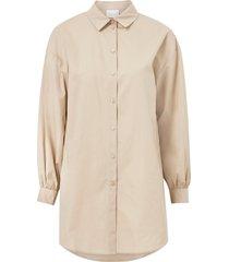 skjortklänning visille l/s oversize shirt dress