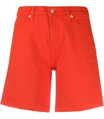 7 for all mankind denim boy shorts - red