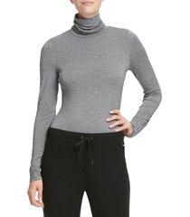 dkny women's turtleneck sweater - grey - size m
