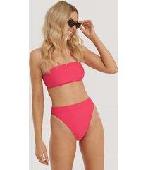 na-kd swimwear thin strap highcut bikini panty - pink