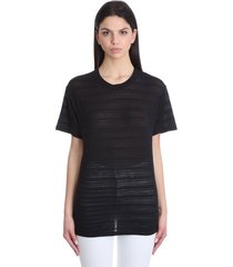 iro melodie t-shirt in black cotton