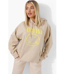 gelicenseerde nirvana hoodie, stone