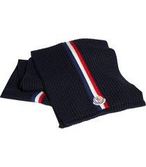 men's moncler stripe wool scarf