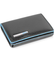 piquadro designer small leather goods, square leather card case