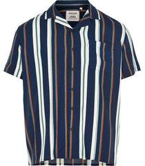 anerkjendt overhemd gestreept blauw 9220028/3038
