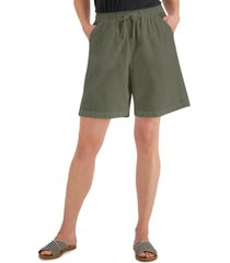 karen scott petite lila drawstring shorts, created for macy's