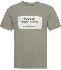 new natal label patch t-shirt man t-shirts short-sleeved grön ecoalf
