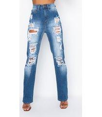 akira mykonos high waist distressed relaxed jeans