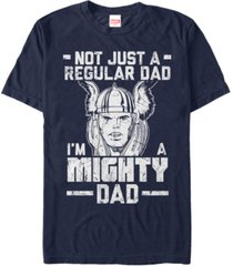 marvel men's comic collection thor not a regular dad short sleeve t-shirt