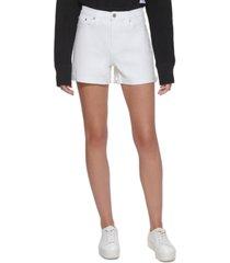 calvin klein jeans frayed cuffed denim shorts