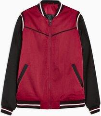 mens red formal bomber jacket