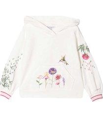 monnalisa monnalisa white sweatshirt