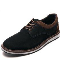 zapato casual azul navy-miel worker